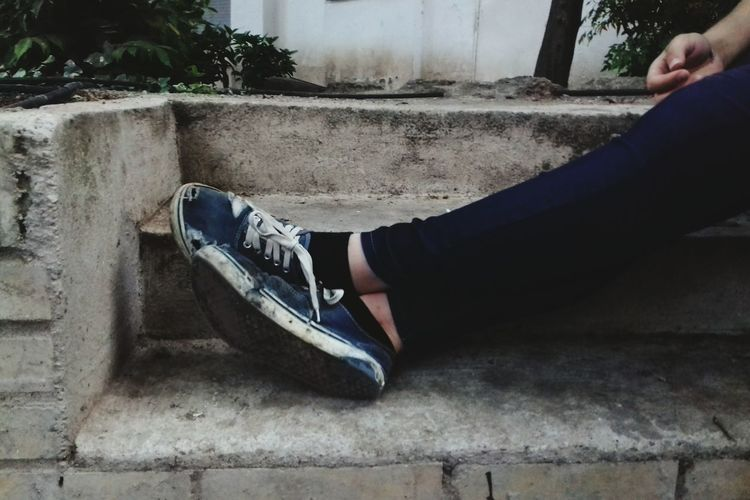 Human Body Part Limb Low Section Human Leg One Person Shoe People Jeans Day Outdoors Young Adult Close-up Friends Real People City