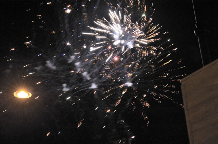 Arts Culture And Entertainment Blurred Motion Celebration Event Exploding Firework Firework - Man Made Object Firework Display Glowing Goodyear Illuminated Long Exposure Low Angle View Motion Night No People Outdoors Sky Sparks