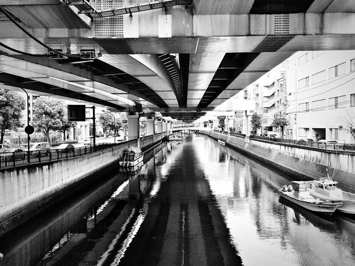 Yokohama Motomachi Urban Landscape Discover Your City Under The Bridge River Black And White Monochrome Water Reflections EyeEm Best Shots