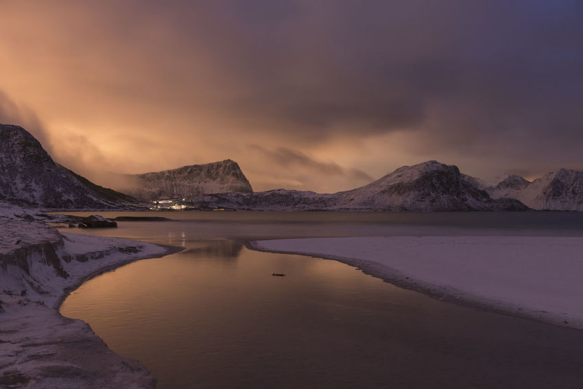 Light pollution at Hauckland beach Beauty In Nature Cold Temperature EyeEm EyeEm Best Edits EyeEm Best Shots EyeEm Gallery EyeEm Nature Lover EyeEmBestPics EyeEmNewHere Landscape Landscape_Collection Landscape_photography Light Pollution Lofoten Mountain Nature Nature No People Outdoors Tranquil Scene Tranquility Travel Traveling Neighborhood MapWinter