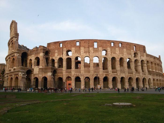 The coliseum against sky