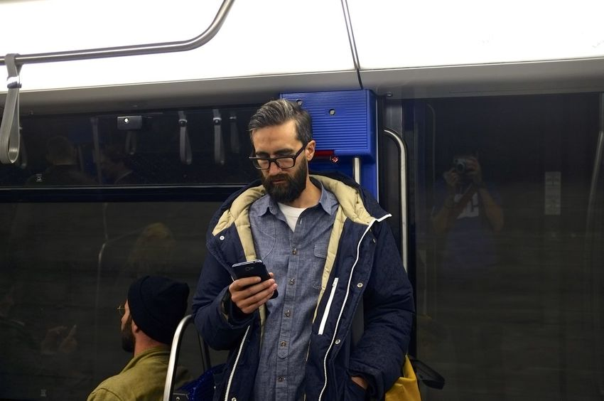 The metro is just a museum of living humans // Lausanne, Switzerland People Phones Silence Streetphotography Subway