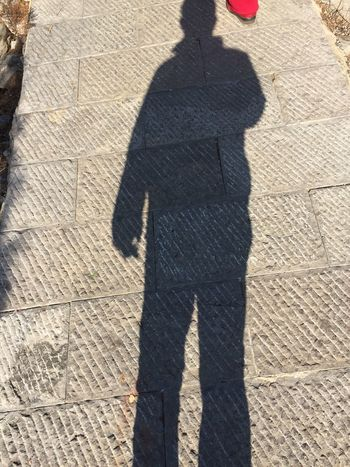 Shadow Real People Sunlight Day Outdoors Focus On Shadow One Person Standing Lifestyles Leisure Activity Full Length People Adult