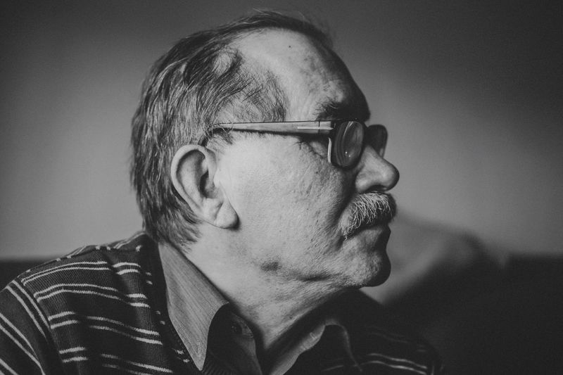 He's Angel, my father. Patient & noble-minded | Open Edit We Are Family Blackandwhite Black & White Portrait Light And Shadow Taking Photos Father People Enjoying Life