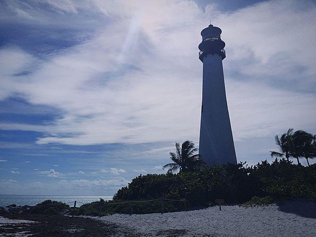 The beacon keeps us true. Soaking Up The Sun Keybiscayne Miami Miami Beach Florida Lighthouse Landscape Beach