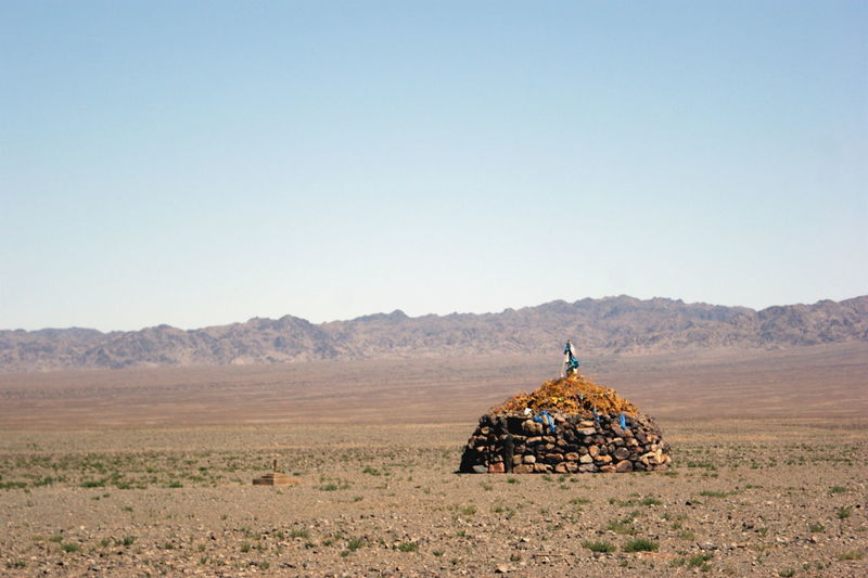 Altai Mountains Gobi Desert Mongolia Beauty In Nature Clear Sky Day Environment Land Landscape Mountain Mountain Range Nature No People Outdoors Ovoo Scenics - Nature Sky Tranquility Travel Destinations Говь- Монгол улс овоо