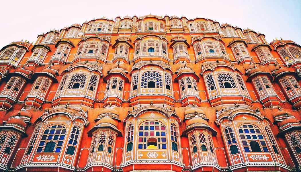 Travel Destinations Tourism Low Angle View Architecture Travel Vacations Day Outdoors No People EyeEm Selects Indiapictures Historical Building Jaipur Rajasthan India_clicks Building Exterior Built Structure Low Angle View Arts Culture And Entertainment Architecture Streetphotography The Week On EyeEm