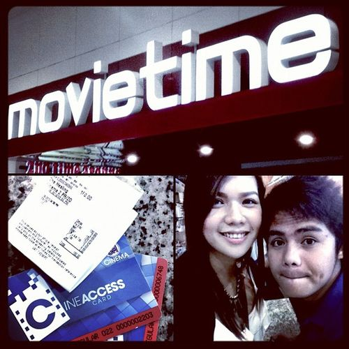 """Because someone insisted to watch """"the healing!"""" and people screaming inside the theater ? nice movie ! Thehealing Igers Igerscebu2012 Happy pretty"""