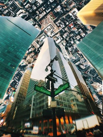 Upside down Inspection view of NYC Incredible View Street Photography Photographer Time Square, New York Ave Of The Americas Yellow Taxi Reflection New Yorker One Way Upside Down Photography Upside Down Point Of View Inspection Midtown Manhattan Birdview Empire State Building 42 Street Manhattan 6 Ave Bank Of America Building Photooftheday Photography City Architecture Building Exterior Skyscraper Cityscape Modern Built Structure City Life