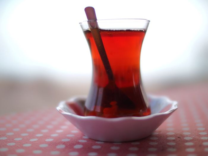 Tea Drink Food And Drink Refreshment Freshness Close-up Still Life Selective Focus Coffee - Drink Non-alcoholic Beverage Coffee Cup Red Single Object Table Tea Beverage Hot Drink Focus On Foreground Serving Size No People Indulgence Turkish Tea Turkish Teacup Shallow Depth Of Field