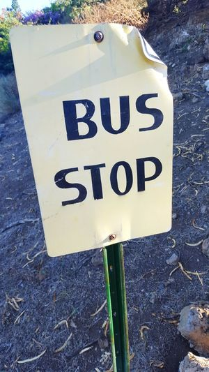 Traveling Public Transportation Bus Bus Stop Sign Signs Getting Around Hawaii Hawaiian