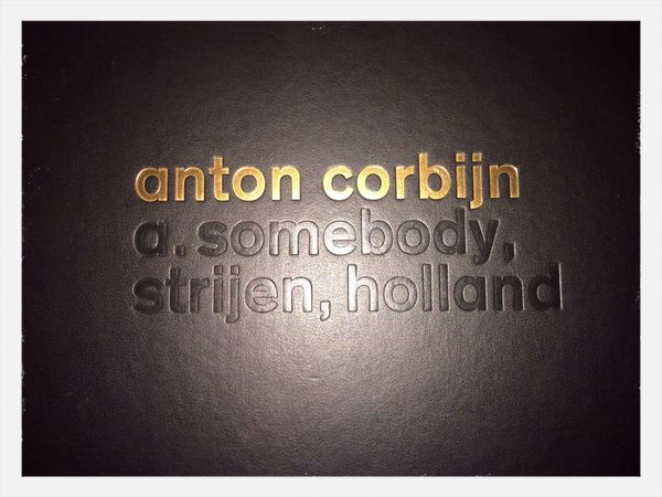 10 years ago i bought that book. 10 years later its still Inspiring . A. somebody by Anton Corbijn