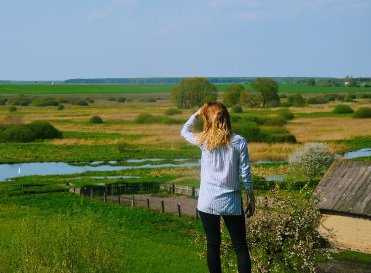 Agriculture Only Women One Person Standing One Woman Only Young Women Water Women Nature People Young Adult Belarus Nature Travel Belarus Mytravel