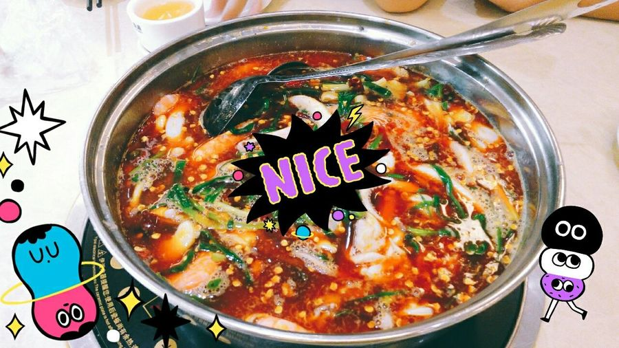 Veryhappy Nice Just For Fun Taking Photos Photo Deforment With Friends Food Porn Awards Delicious Lunch Chafing Dish