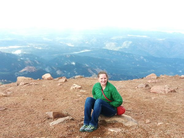 O beautiful for spacious skies... Pikes Peak On Top Of A Mountain Need Oxygen Fourteeners Scenic Beauty On The Edge
