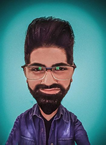 Ofis521 Caricature My Portrait Photoshop Looking At Camera Front View Adults Only One Person Headshot Human Body Part Studio Shot Adult People Human Face One Man Only Men Eyeglasses  Intelligence Young Adult Only Men Muhammedbakar Karikatur