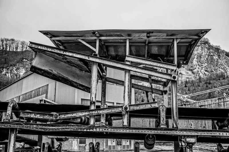 Architecture Big Machines Black And White Bridge - Man Made Structure Built Structure Day Europe Giant Machine History Industrial Industry Iron Man Made Structure Metal Construction Modern No People Outdoors Sky Slovenia Trbovlje Workers Area