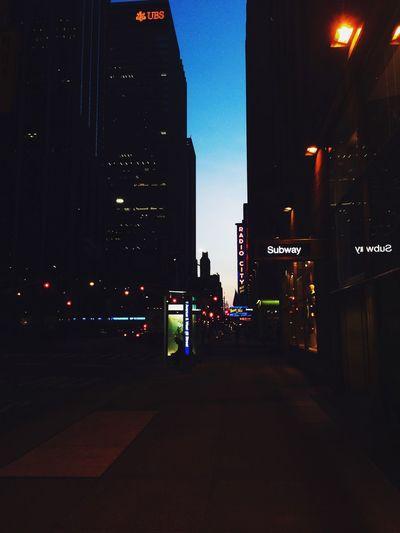 New York Dawn Of A New Day Manhattan Radio City Music Hall