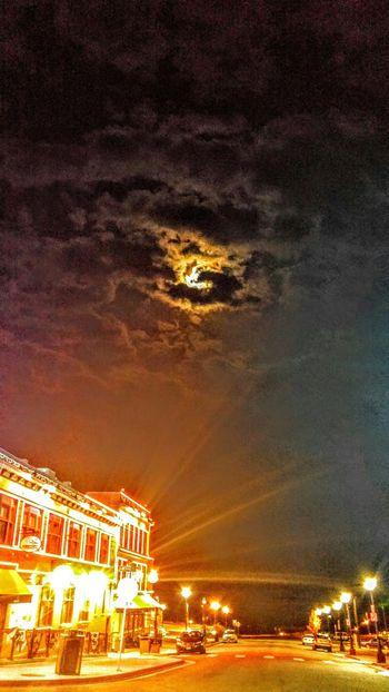 Glitch Neon Lights Cloudy Skies Moonlight Cripple Creek Colorado LG G4