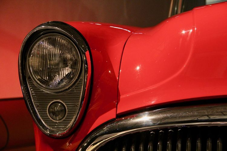 Close-up of red car