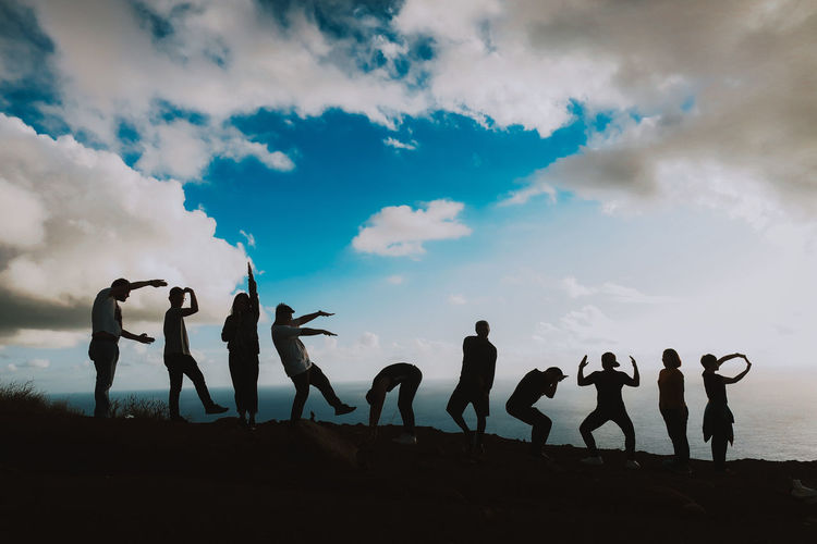 Cloud - Sky Group Friendship Togetherness Lifestyles Leisure Activity Nature Outdoors Happy