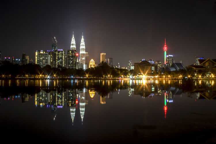 Metropolis with KLCC & KL Tower as the background. Calm Leon Nightphotography Architecture Building Exterior Built Structure City Cityscape Illuminated Klcc Lake Landmark Landscape Modern Night No People Outdoors Reflection Sky Skyscraper Tower Travel Destinations Urban Skyline Water Waterfront