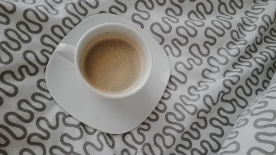 Cafexperiment Cappuccino Close-up Coffee - Drink Coffee Cup Cup Day Directly Above Drink Espresso Food And Drink Freshness Frothy Drink High Angle View Horizontal Indoors  No People Refreshment Studio Shot White Background