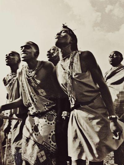Masai Mara Dance Africa Traveling Black And White