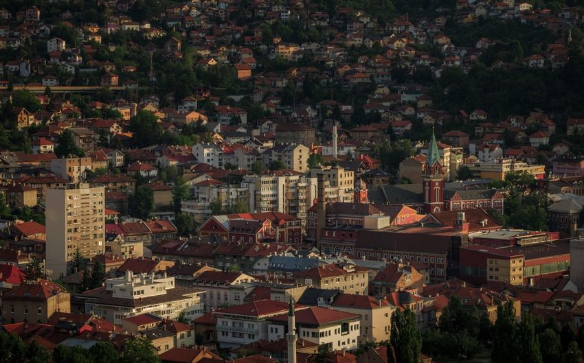 City Sarajevo Bosnia And Herzegovina Sarajevo City View  Travel Destinations Cityscape Tree No People Outdoors Building Exterior Architecture City