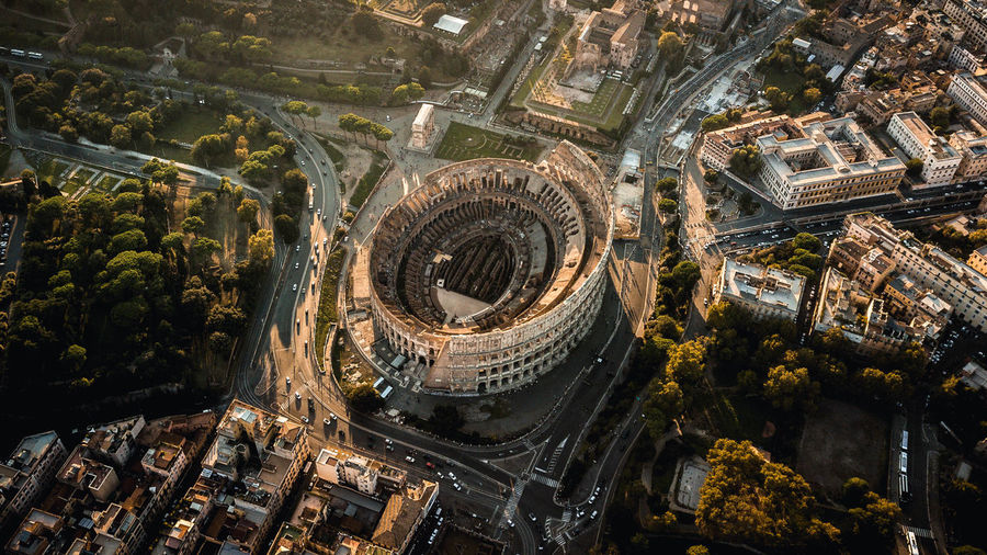 Colosseum, Architecture Built Structure Building Exterior High Angle View City Building Travel Destinations No People Day Cityscape Tourism Travel Outdoors Aerial View Nature History The Past Transportation Tower Rome Colosseum Italy My Best Photo