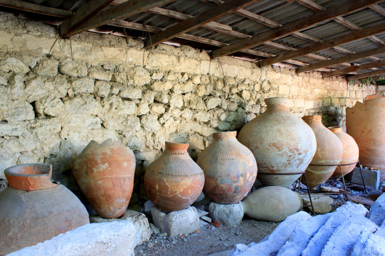Abandoned Ceramics Clay Clay Dishes Clay Material Clay Work Crockery Day Dishes Earthenware Earthenware, Indoors  Jug No People Old Old Ruin Pitcher - Jug Pitchers Pottery Ruin Ruins Stoneware керамика кувшин руины