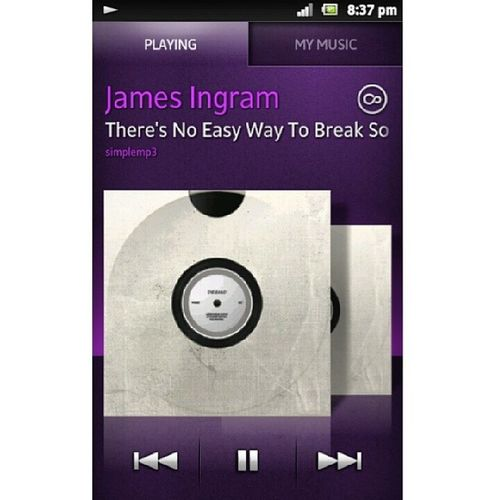 Now playing :) i just love listening to old school music. Its relaxing <3 <3 <3 slow music this sunday night Jamesingram Nowplaying