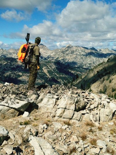 #Hunting The Sawtooths In Idaho Everything In Its Place Kuiu VortexOptics Hunt Deer Mule Deer Tikka  Cabelas High Country Camo Lapua Kifaru Hunting Wilderness God'sCountry