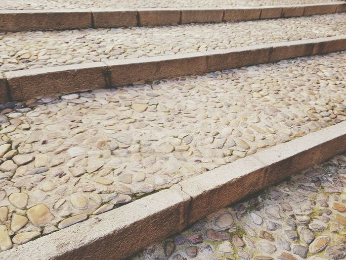 Escaleras de una calle de Toledo. Stairs Toledo Spain Soft 1 Filter No People Outdoors Day Textured  Pattern Toletvm Streetphotography Footpath Paving Stone Stone Material