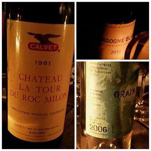 Start your week right 😆 ChateaulaTourduRocMilon Burgund BourgogneBlanc PierreBoisson MarsanneBlanche MarieThereseChappaz Wine Wein Foodporn 16ArtBar Gstaad