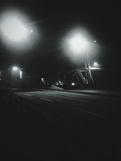 Night Black & White Bridge Street