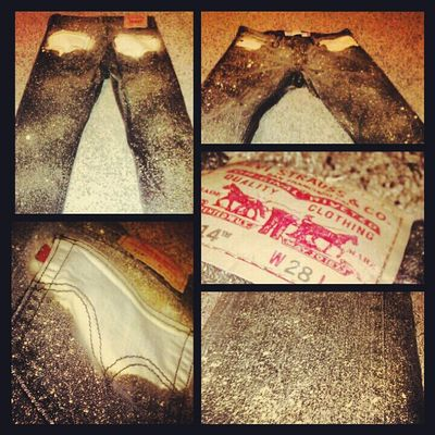 Levis I bleached!