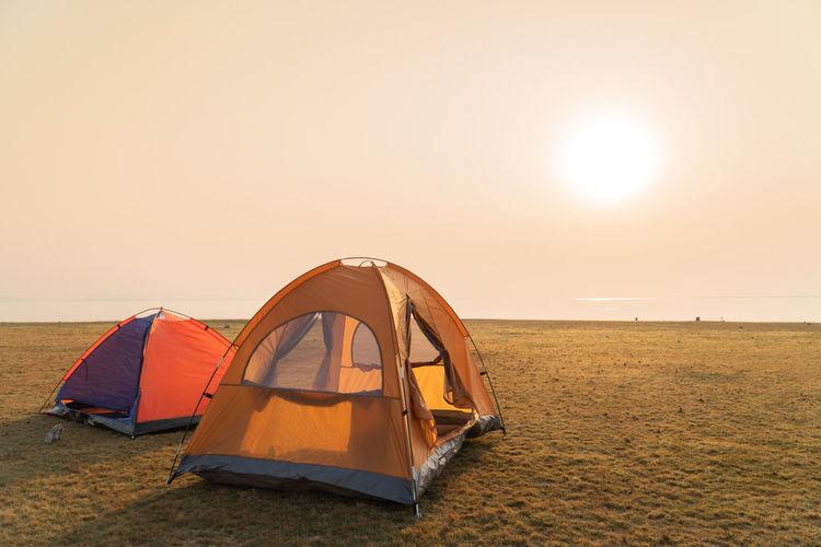 Sky Land Tent Horizon Nature Outdoors Camping