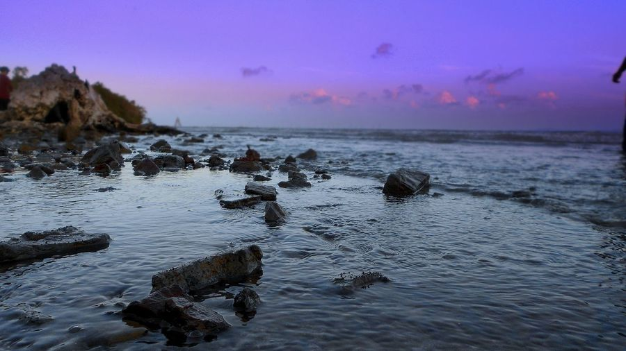 sea yaa!! Water Nature Rock - Object Sea Beauty In Nature Sunset
