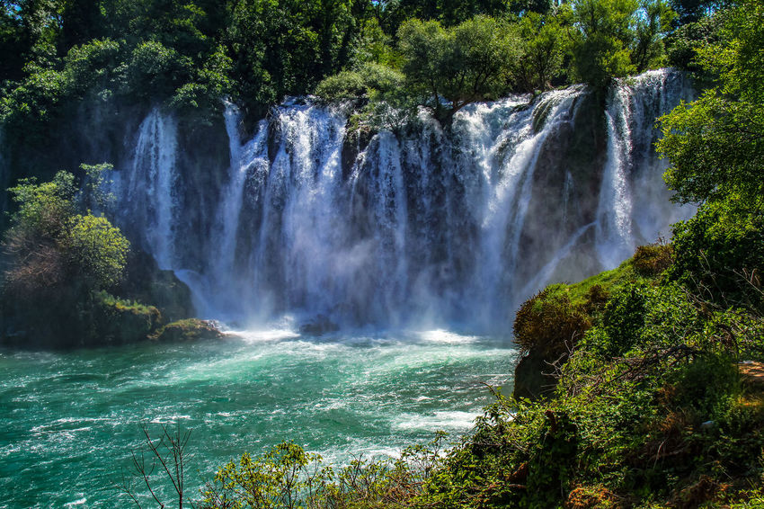 Beauty In Nature Day Forest Freshness Growth Kravica, Bosnia & Herzegovina Motion Nature No People Outdoors Scenics Tourism Travel Destinations Tree Water Water_collection Waterfall