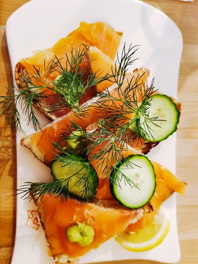 healthy food......... EyeEmNewHere Lunch Lunchtime! Sandwiches Healthy Eating Healthy Lifestyle Healthy Food Cumcumber Herb Leaf SLICE Table Close-up Food And Drink Dill Salmon - Seafood Food Styling Fillet Salmon
