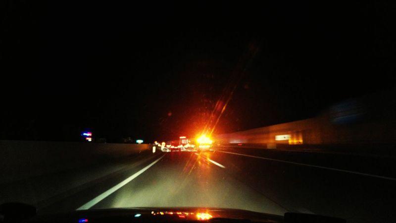 Speed Car Night Transportation Speed Brake Lights Brake