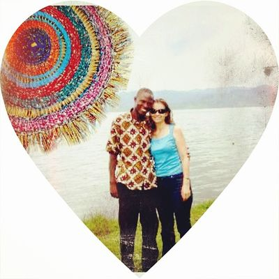 Me and @godwinyidana1 at Lake Bosumtwe in Ghana in 2008. Juxtaposed with Textileart from our project in 2012 and 2013. Using Juxtaposer and @piclabapp Piclab iphonography art photooftheday