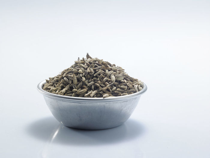bowl of cumin seed on the white background Container Natural Seed Aroma Bowl Close-up Condiment Cumin Cut Out Food Food And Drink Fragrance Ground - Culinary Healthy Eating Heap Indoors  Ingredient No People Pile Raw Food Seasoning Spice Still Life Studio Shot White Background