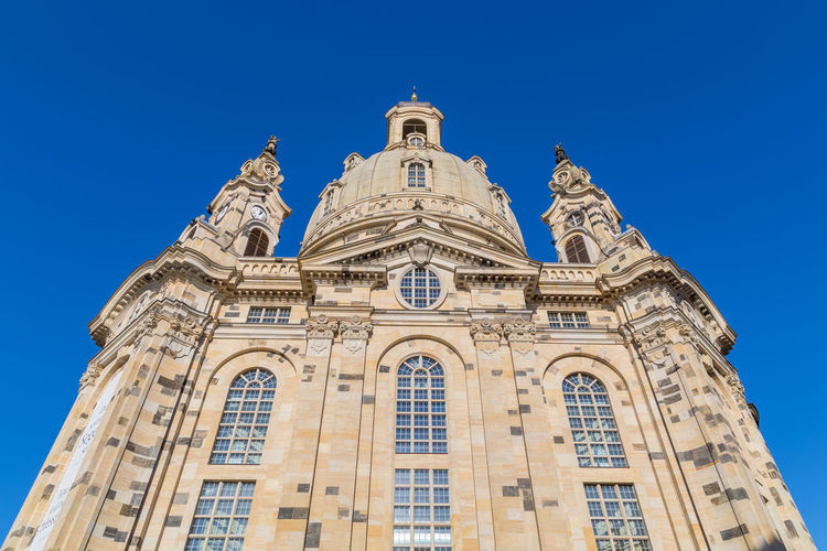 Frauenkirche Architecture Blue Building Exterior Built Structure Clear Sky Day Low Angle View No People Outdoors Sky Travel Destinations