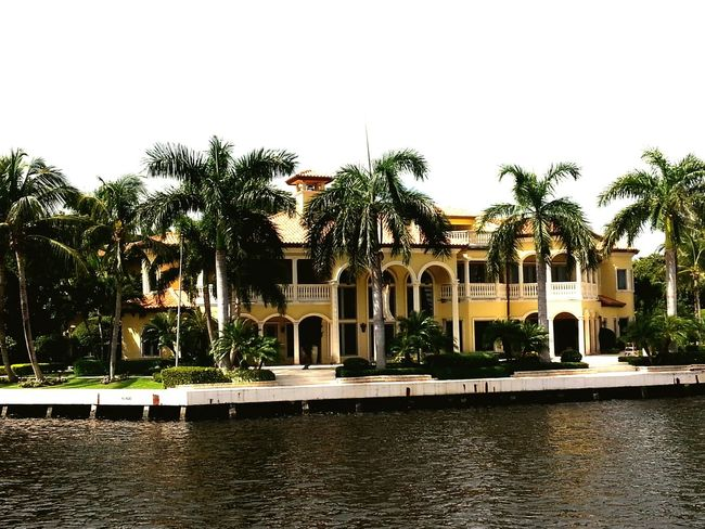 Mansion Intercoastal Waterways Travel Destinations Architecture Tree Sky Reflection Building Exterior Built Structure Outdoors Water Day No People Palm Tree luxurious Million Dollar View Richpeople Fort Lauderdale  Taking Photos Luxurylifestyle  Check This Out