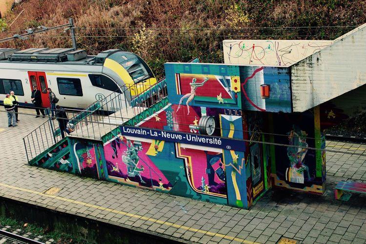 Couleurs Louvain-La-Neuve, Belgium No People Tag Train Station