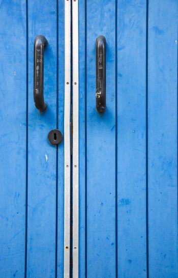 Blue Door Door Blue Closed Metal Backgrounds Close-up No People Latch Day Lock Full Frame Hinge Outdoors Blue Door The Week On EyeEm The Graphic City