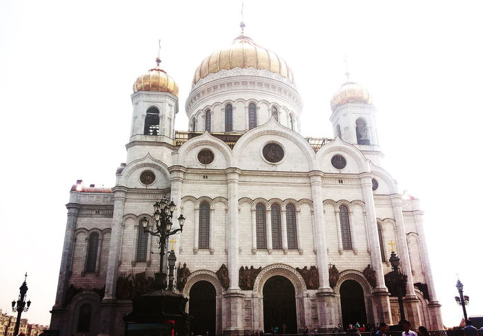Architecture Cathedral City Famous Place God Low Angel View Moscow Religion Spirituality White
