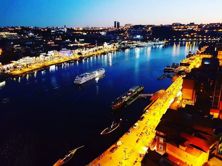 Porto Portugal Douro  Ponte Luis I Boat River Night Lights First Eyeem Photo